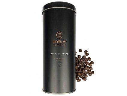basium coffee brazilie santos darkova plechovka