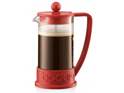 French press BODUM® BRAZIL na 3 šálky 350 ml, červený