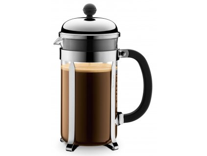 French press BODUM® CHAMBORD  na 8 šálků 1 000 ml, chromový