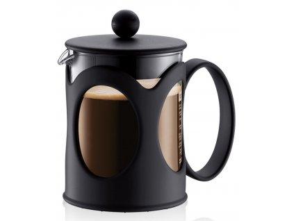 French press BODUM® KENYA na 4 šálky 500 ml, černý