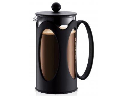 French press BODUM® KENYA na 8 šálků 1000 ml, černý