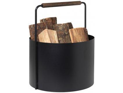 Blomus Koš na dřevo hnědý ASHI