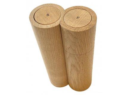 Mlýnek na sůl a pepř, dřevěný, magnetický clapdesign