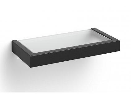 polička do koupelny nerezová černá 26,5 cm linea Zack