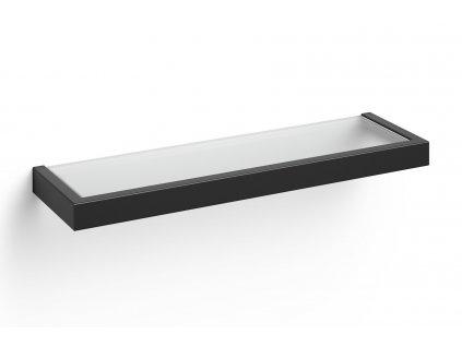 polička do koupelny nerezová černá 46,5 cm linea Zack