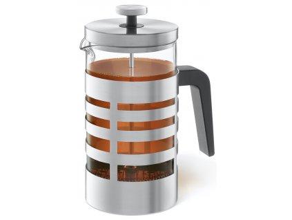 French press z nerezu na kávu nebo čaj
