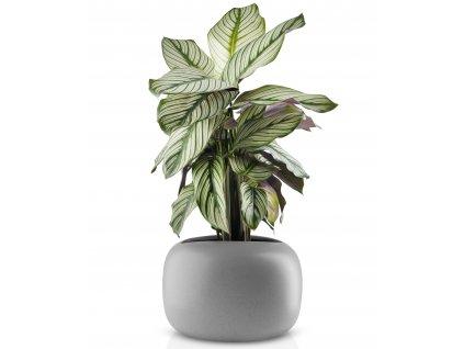 Kamenný květináč šedý 19 cm Eva Solo