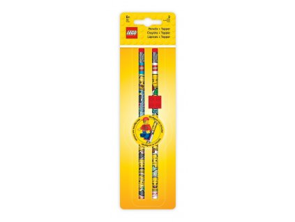 LEGO Iconic Tužka grafitová s gumou a LEGO klipem - 2 ks
