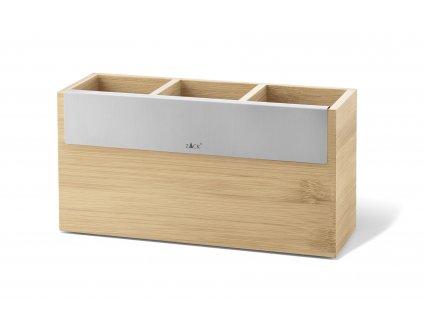 Box na kuchyňské pomůcky z bambusu, 3 přihrádky ZACK