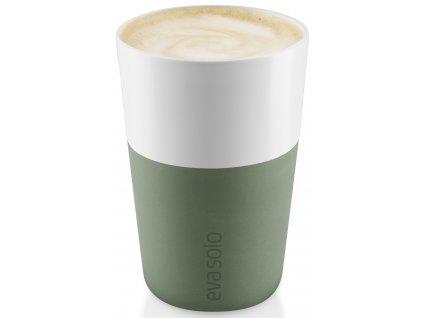 Hrnky na latte 360 ml set 2 kusů kaktusově zelený Eva Solo
