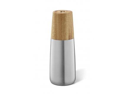 Mlýnek na pepř kartáčovaný nerez a bambus ZACK