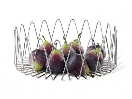 Široký košík na ovoce lesklý ZACK