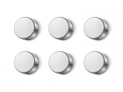 Set 6 kusů magnetů cult nerezových broušených ZACK