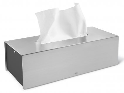 Box na papírové kapesníky PURO nerezový broušený ZACK