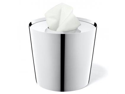 Nerezový zásobník na kosmetické tampóny LYOS lesklý ZACK