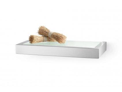 Koupelnová polička LINEA, broušený nerez, 26,5 cm ZACK