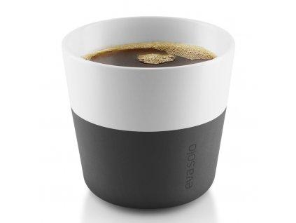 Termohrnky na kávu Lungo 230 ml 2 kusy karbonově černé, Eva Solo