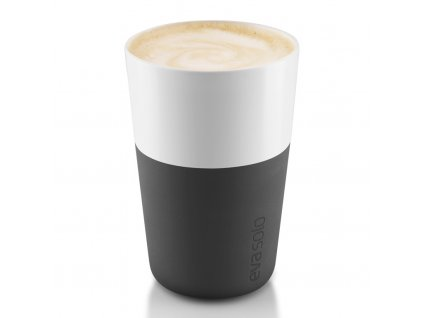 Termohrnky na café latte 360 ml 2 kusy karbonově černé, Eva Solo