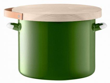 Utility chlebník & jasanové prkénko pr.31cm/14l zelený, LSA