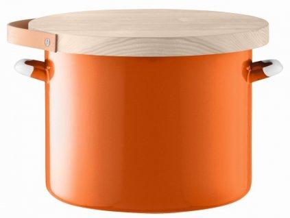 Utility chlebník & jasanové prkénko pr.31cm/14l oranžový, LSA