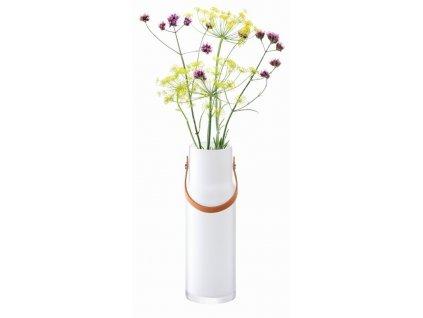 Utility nádoba & kožený úchyt v39.5cm bílá, LSA
