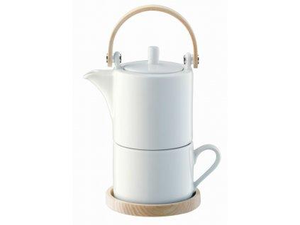 Circle čaj pro jednoho, jasanové držadlo & podšálek, LSA