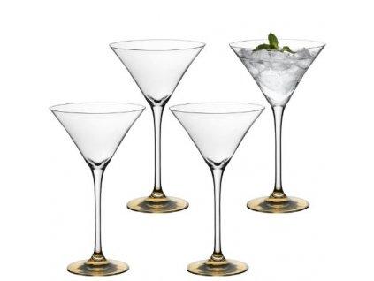 LSA Coro koktejlová sklenice, set 4ks zlatá