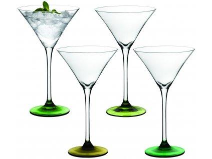 LSA Coro koktejlová sklenice Set 4ks tóny zelené