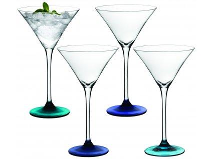LSA Coro koktejlová sklenice Set 4ks tóny modré