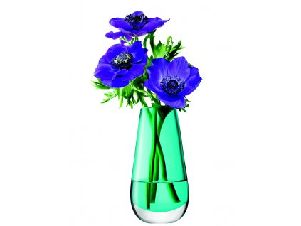 LSA Flower váza malá, 14cm, tyrkys