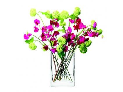 LSA Flower obdelníková váza 22cm čirá