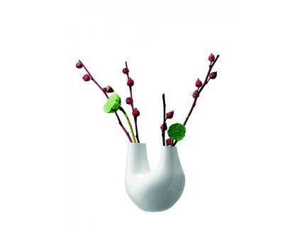 LSA Gaudi váza 22cm bílá