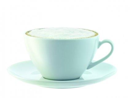 LSA Dine šálek s podšálkem 0,35l, set 4ks bílý
