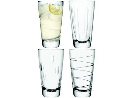 LSA Charleston vysoké sklenice 370 ml, čiré, 4 ks