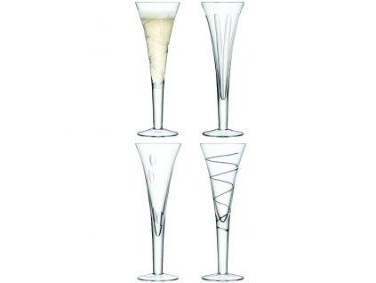 LSA Charleston sklenice flétny na šampaňské nebo sekt 200 ml, čiré, 4 ks