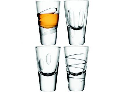 LSA Charleston sklenice na vodku 100 ml, čiré, set 4 ks