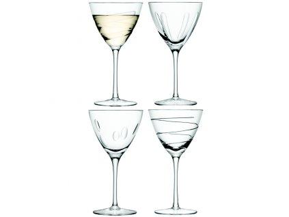 LSA Charleston sklenice na víno 400 ml, čiré, 4 ks