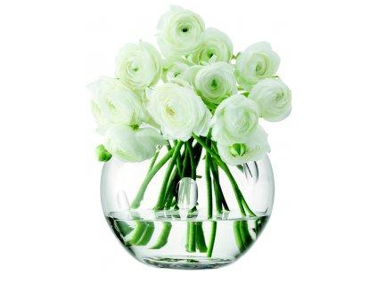 LSA Charleston váza zdobená oválky, 15 cm, čirá