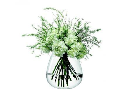 LSA Flower skleněná váza vypouklá, 38 cm, čirá