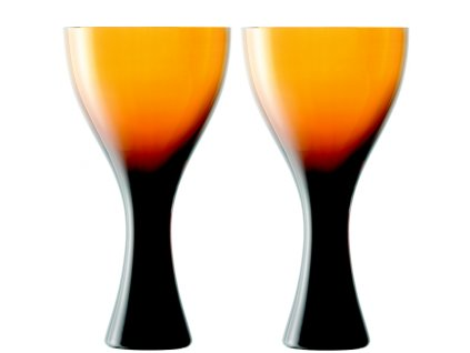 LSA Velvet sklenice na víno, 300 ml, jantarové, 2 ks