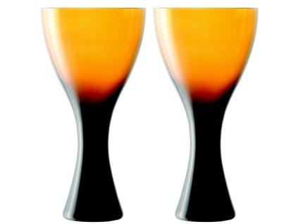 LSA Velvet sklenice na víno, 470 ml, jantarové, 2 ks