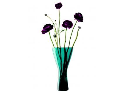 LSA Velvet váza, výška 22 cm, zelenomodrá