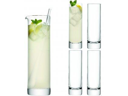 LSA dárkový set Long Drink, 4 sklenice (250 ml) a džbán (1,6l), čiré