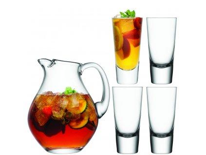 LSA dárkový set Bar, 4 sklenice (315 ml) a džbán (2,8l), čiré