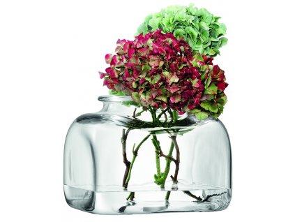 LSA váza Umberto, 25 cm, čirá