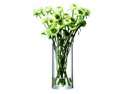 LSA váza Column, 28 cm o 13 cm, čirá