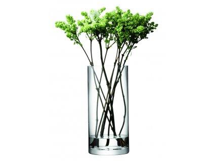 LSA váza/svícen Column, 36 cm o 17 cm, čirá