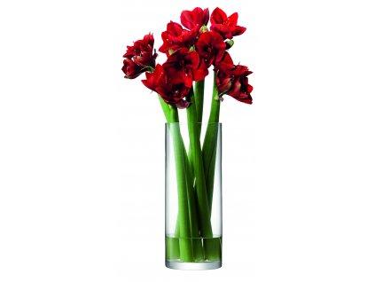LSA váza Column, 50 cm o 20 cm, čirá