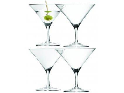 LSA sklenice na martini BAR, 180 ml, 4 ks, čirá
