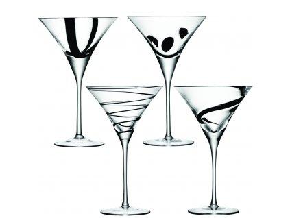 LSA JAZZ sklenice na koktejly, 250 ml, set 4ks